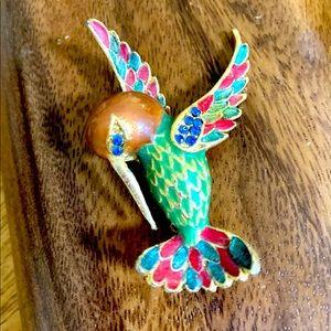 Vintage dead stock Hummingbird Brooch